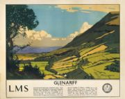 Glenariff, County Antrim, Northern Ireland. Vintage LMS Irish Travel poster by Norman Wilkinson.